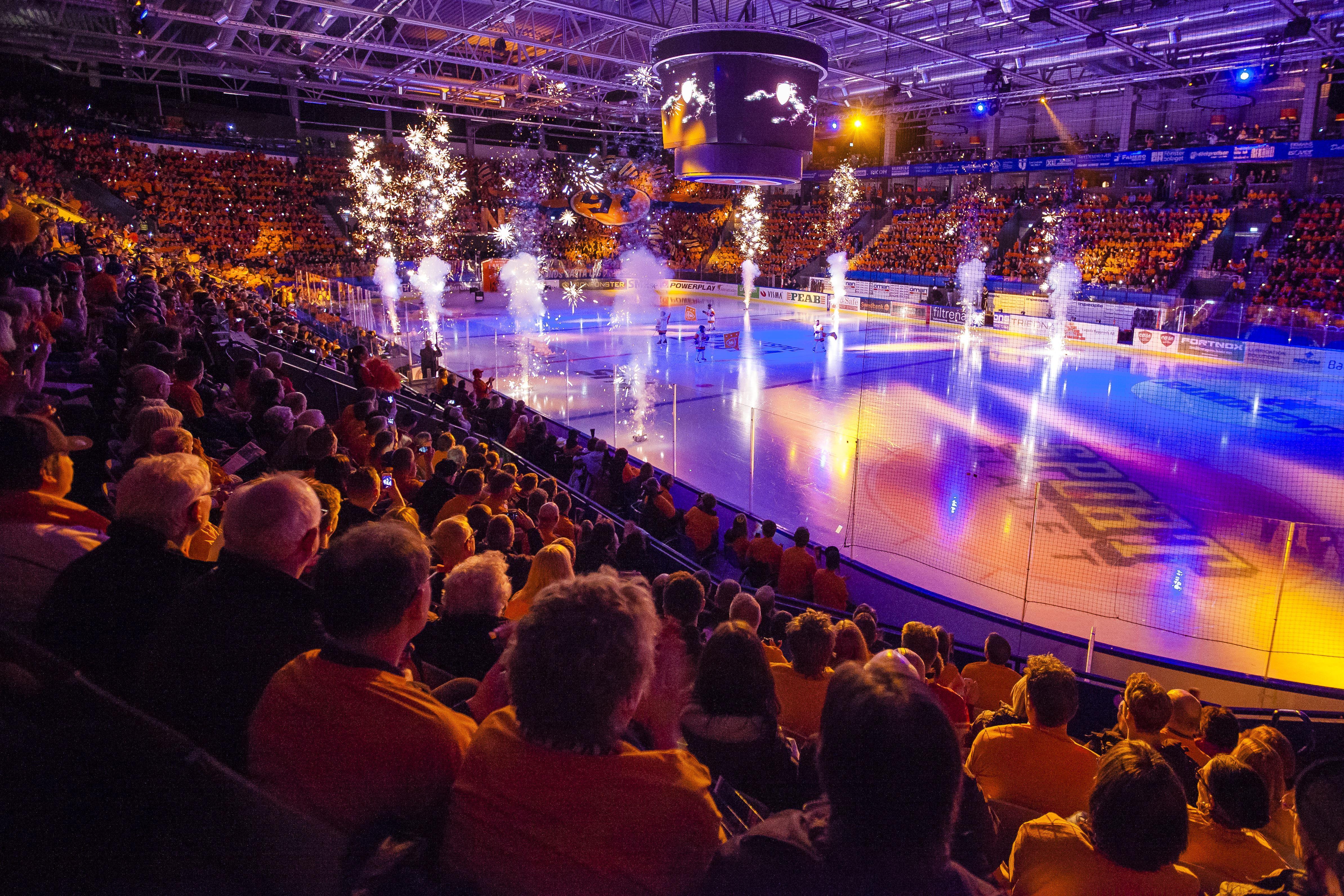 Ishockey:  Växjö Lakers  -  HV71 Jönköping