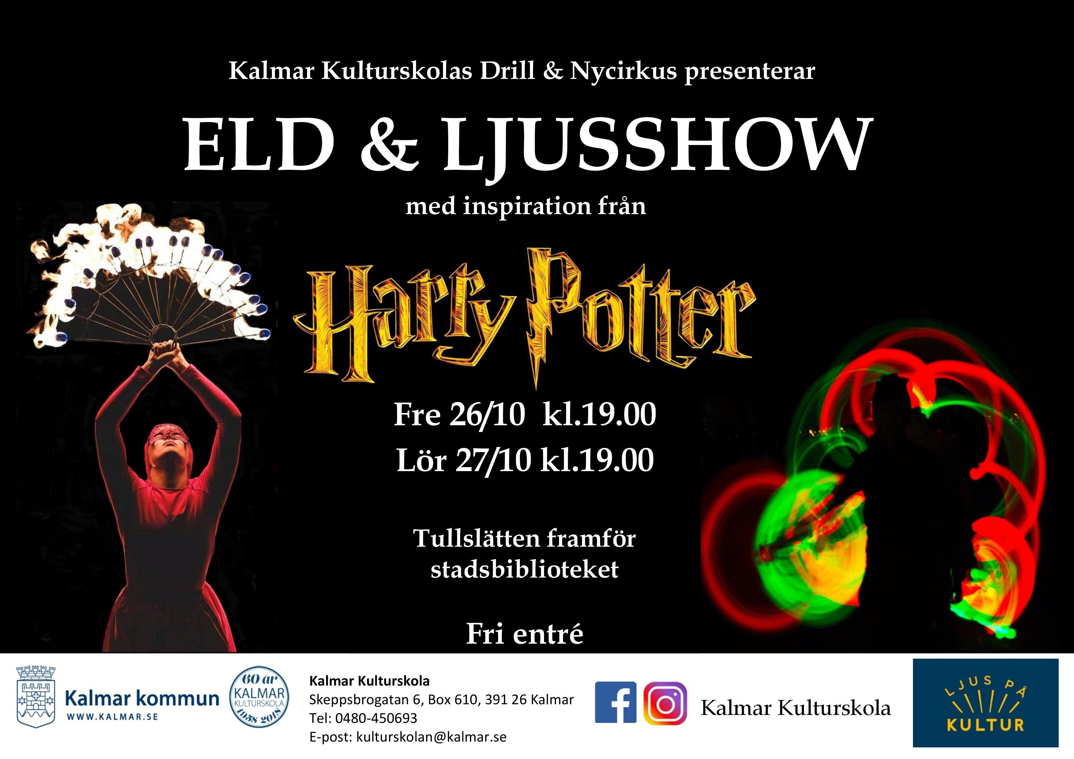 Eld & Ljusshow - Harry Potter
