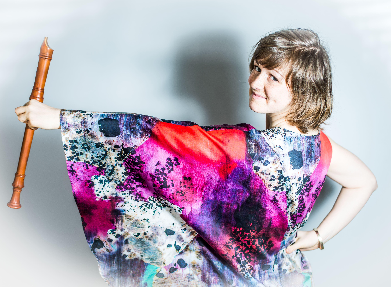 Elias Gammelgård, Gävle symfoniorkester i det lilla formatet med Kristine West på blockflöjt.