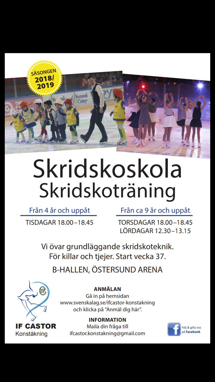 © IF Castor Konståkning, Practise Ice Skating