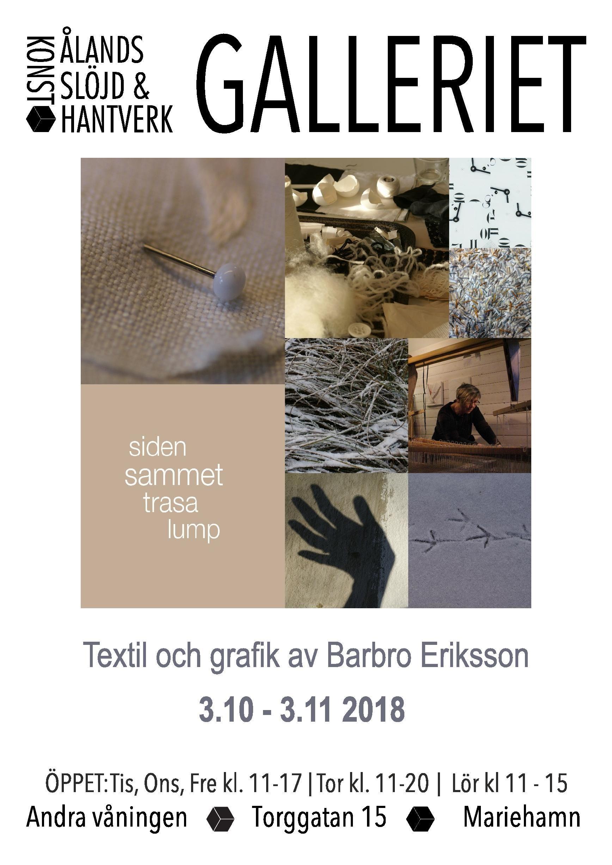Utställning: Siden, sammet, trasa, lump av Barbro Eriksson