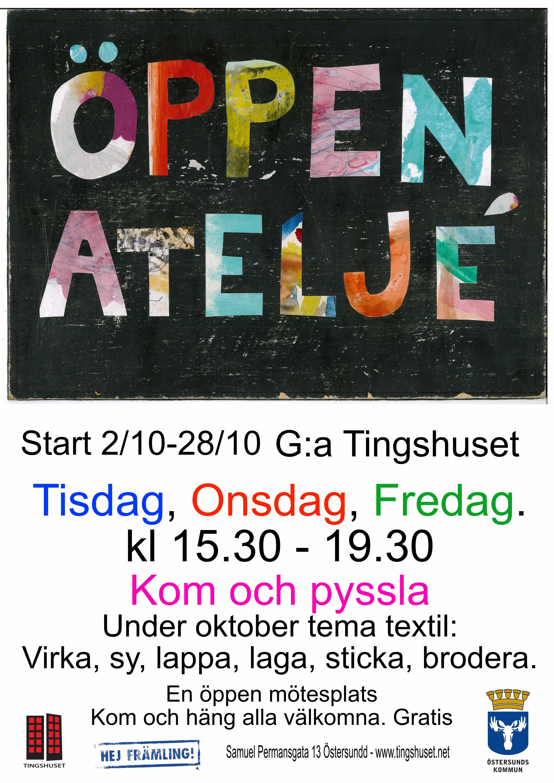 © Gamla Tingshuset, Öppen Ateljé Gamla Tingshuset