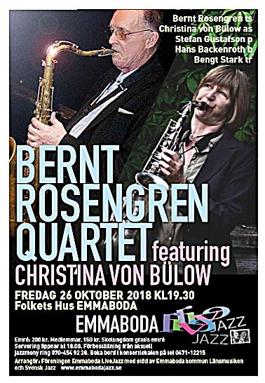 Bernt Rosengren Quartet featuring Christina von Bülow