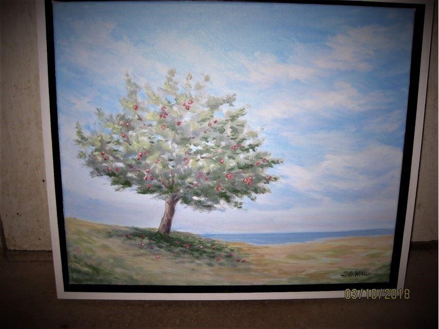 Konstutställning: Oljemålningar av Sol-Britt Wiktor