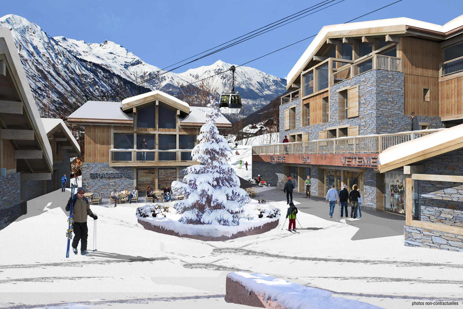 4 Room 6 Pers ski-in ski-out / CASEBLANCHE C21