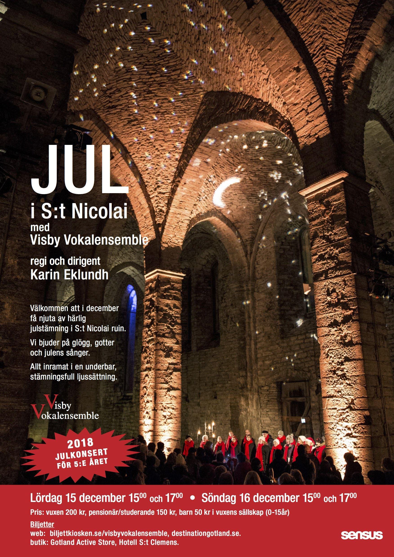 Jul i S:t Nicolai med Visby Vokalensemble