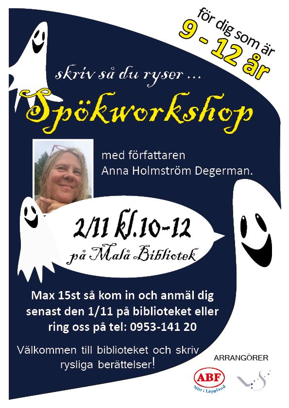 Spökworkshop med Anna Holmström Degerman - Malå bibliotek