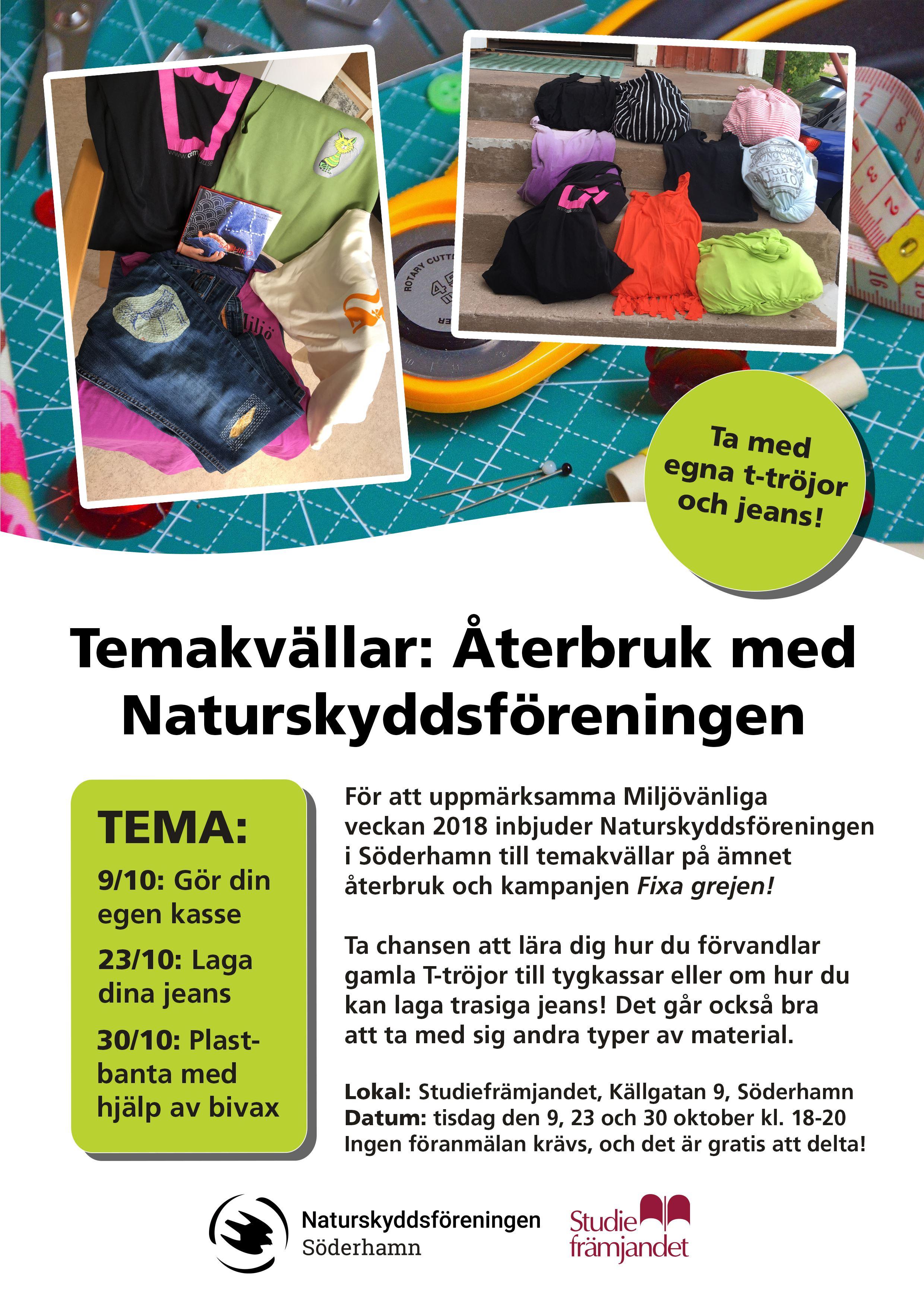 Temakvällar: Återbruk med Naturskyddsföreningen - Laga dina jeans!