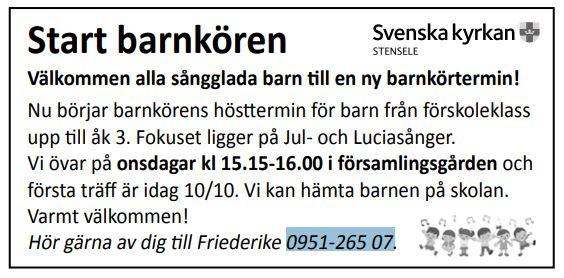 Barnkör med Svenska kyrkan