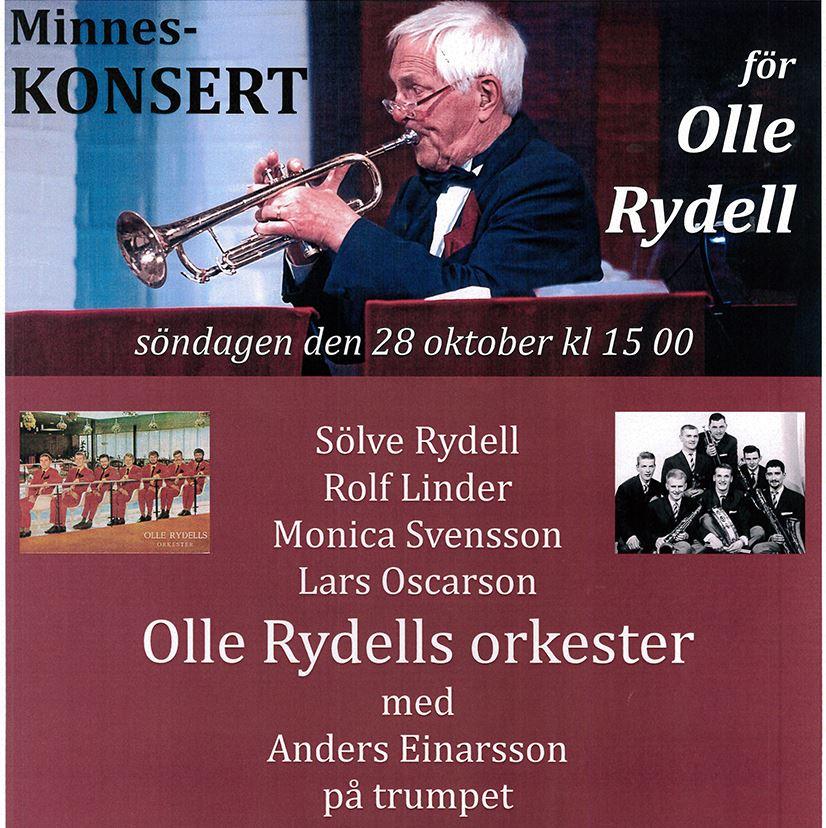 Minneskonsert för Olle Rydell