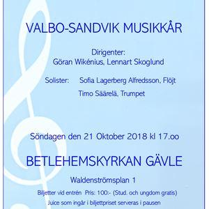 HÖSTKONSERT med Valbo-Sandvik Musikkår