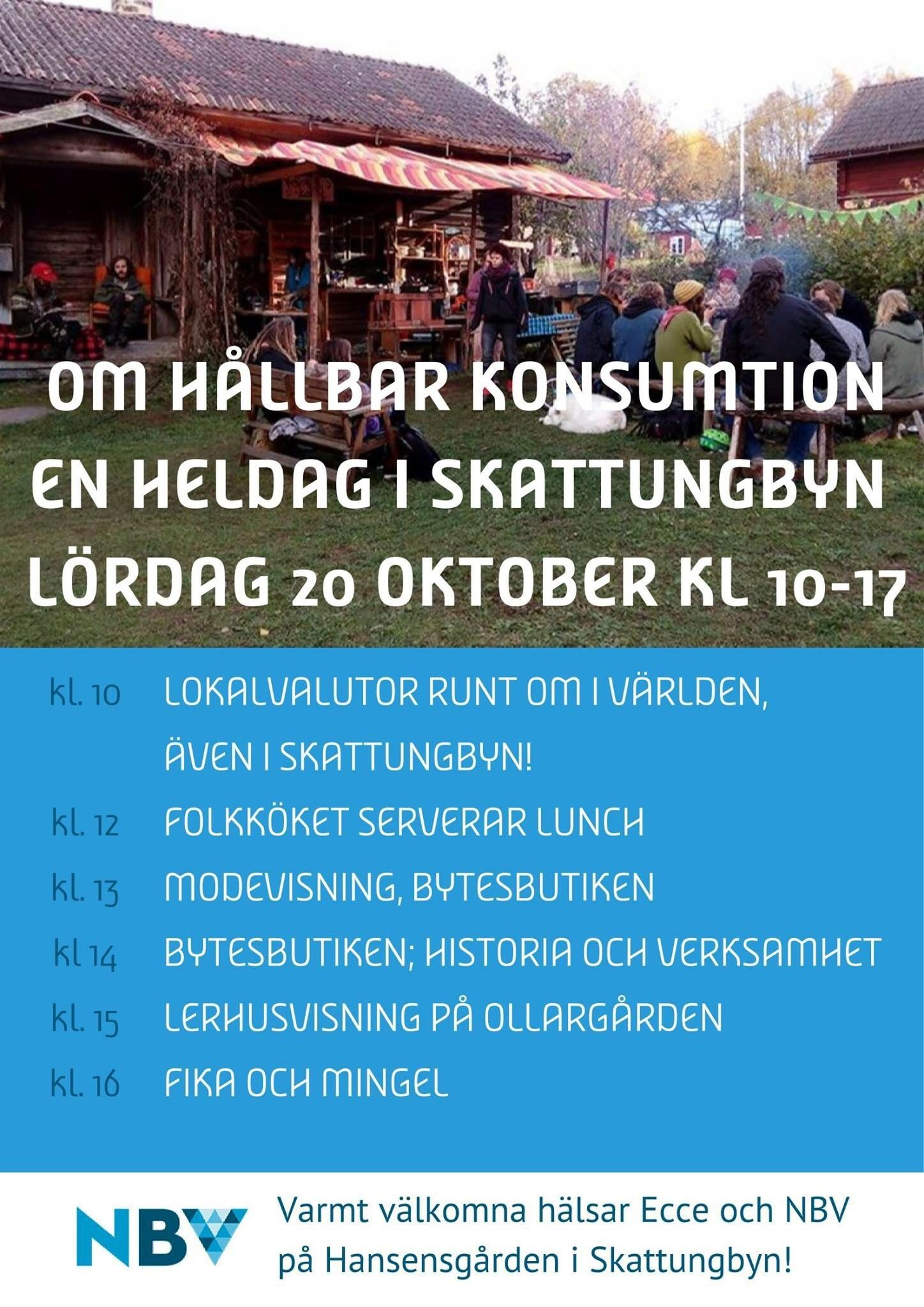 Om hållbar konsumtion - en heldag i Skattungbyn
