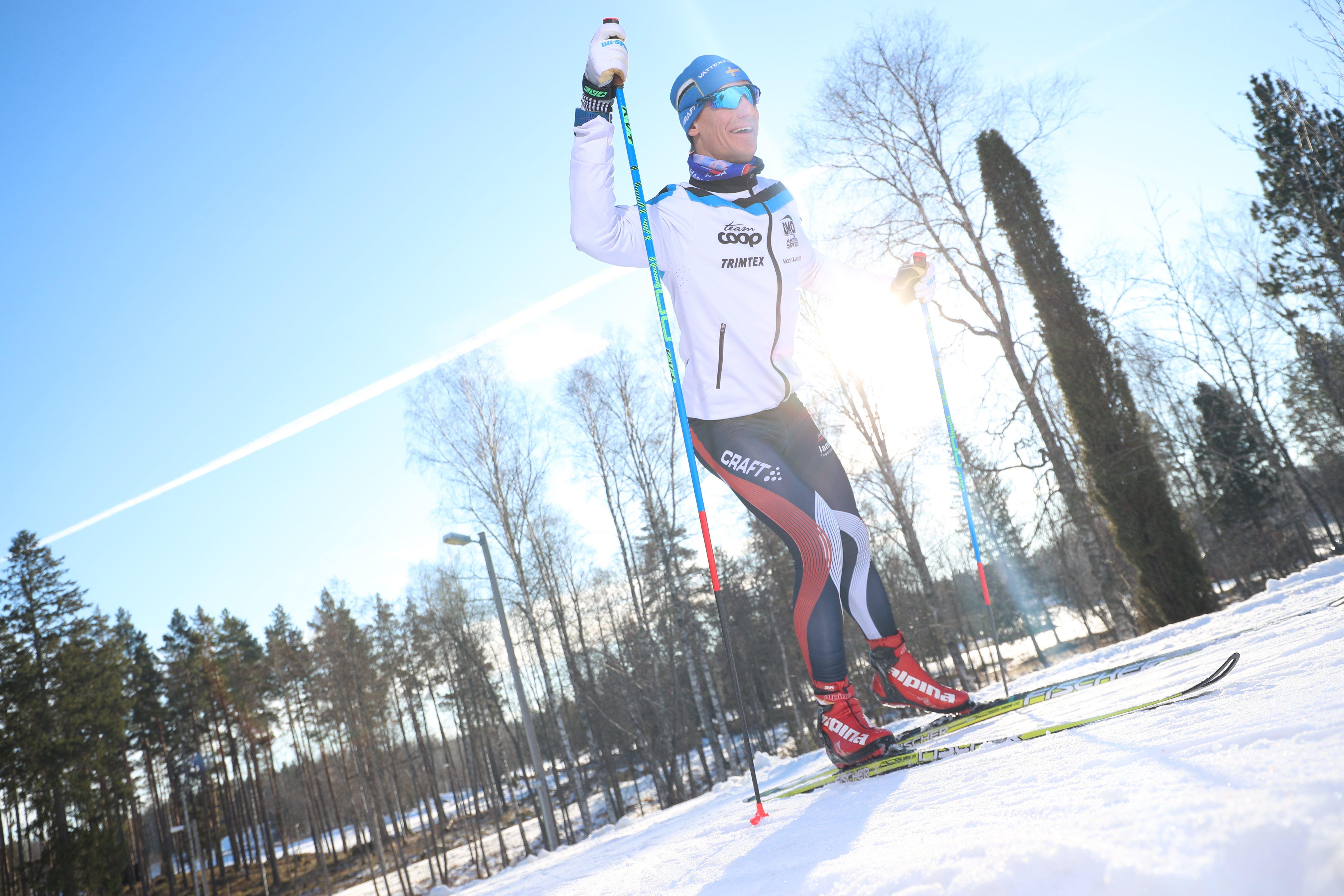 Cross-country skiing in Högbo Bruk
