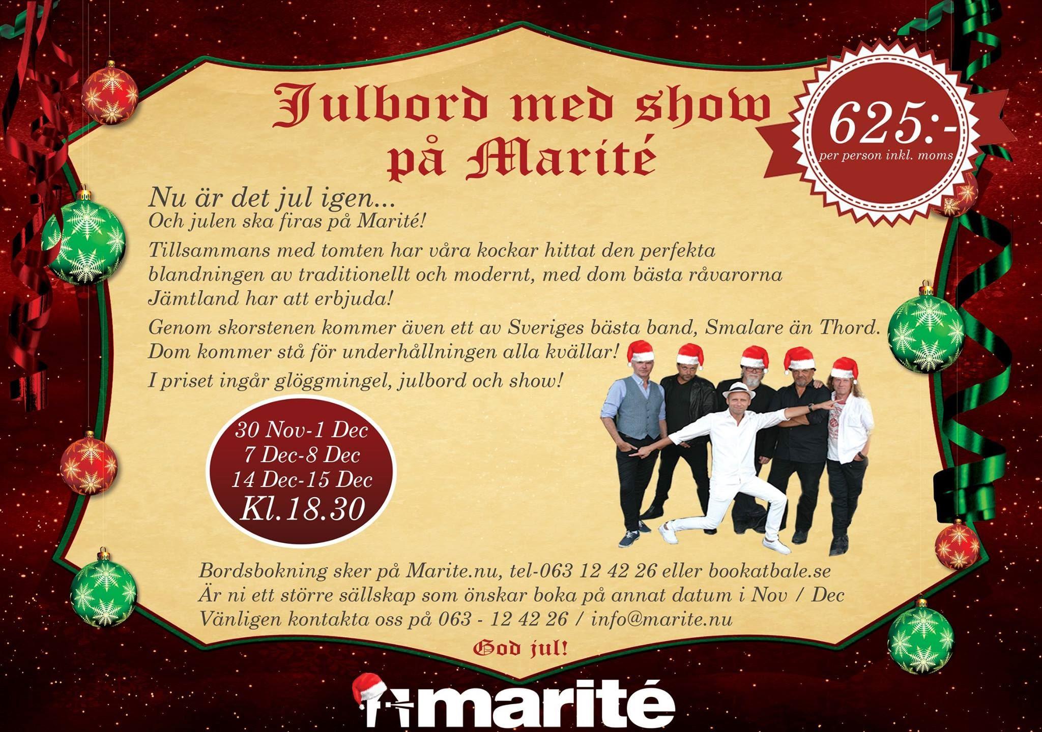 © Copy: Marité, Julkonsert med julbord - Smalare än Thord 2.0