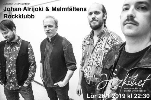 © Copy: Jazzkoket.se, Jazzköket live - Johan Airjoki & Malmfältens rockklubb