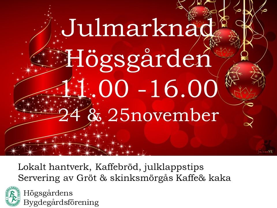 Helena Jonsson, Julmarknad på Högsgården
