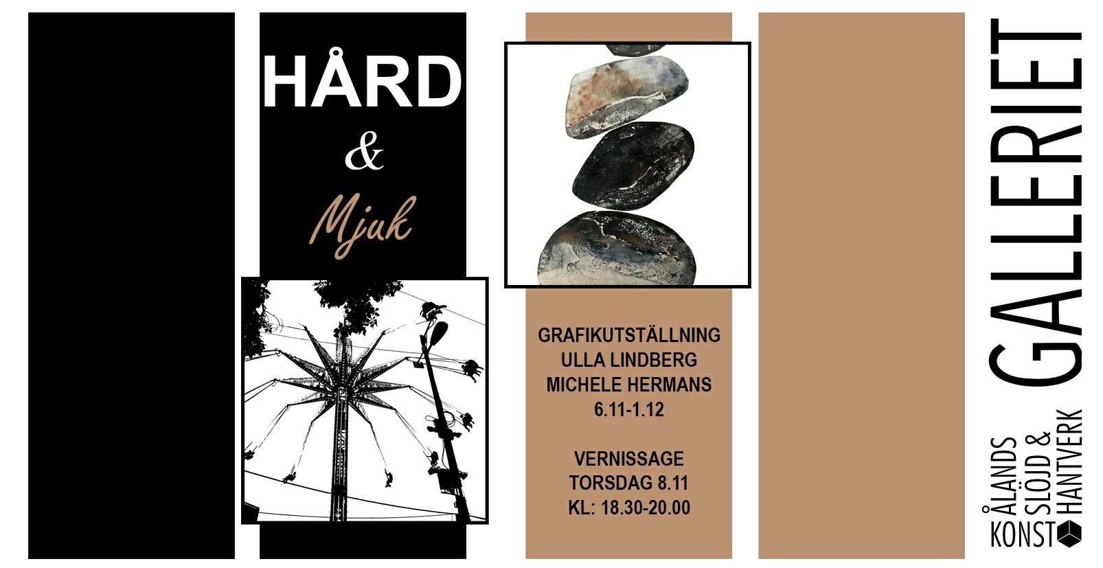 Taidenäyttely: Ulla Lindbergin ja Michele Hermansin grafiikkatöitä