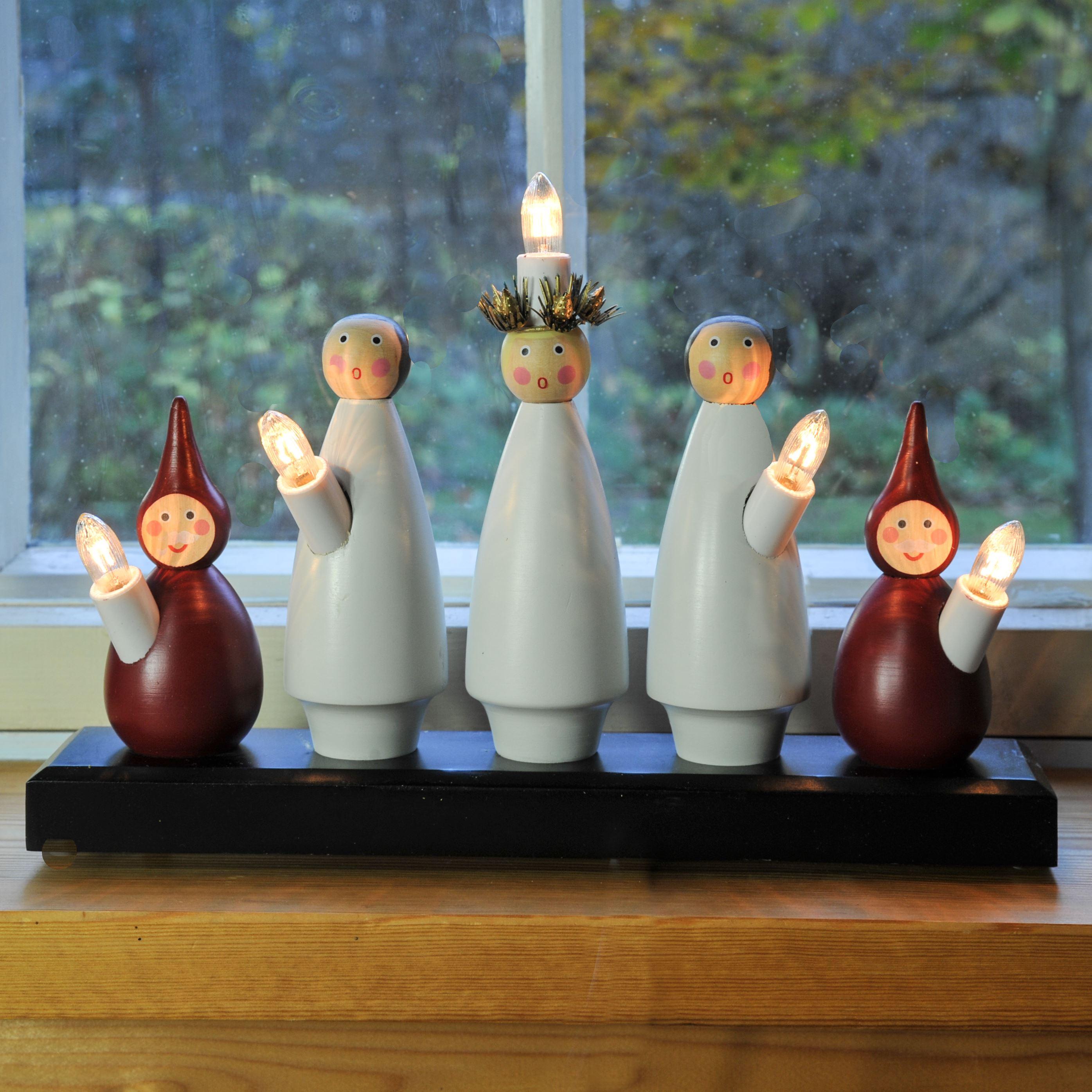Luciatåget, klassisk julljusstake av Sten Bengtsson - läs mera