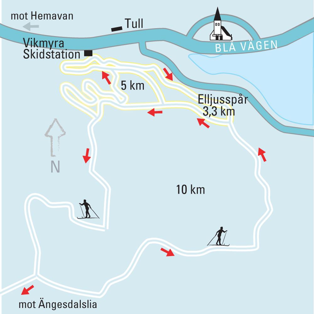 Ski trails in Tärnaby