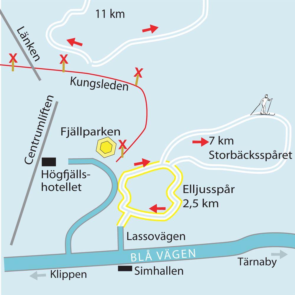 © Hemavan Tärnaby PR-förening, Längdåkningsspår i Hemavan