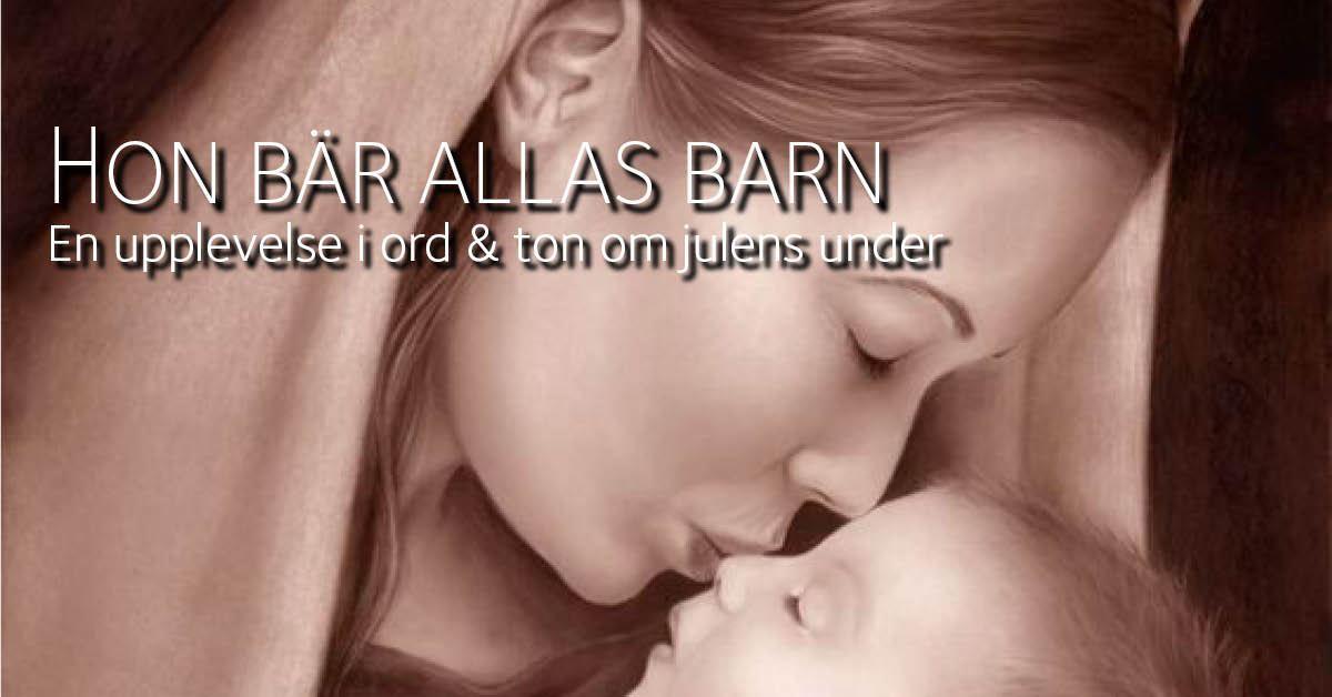 """""""Hon bär allas barn"""" -Torps kyrka"""