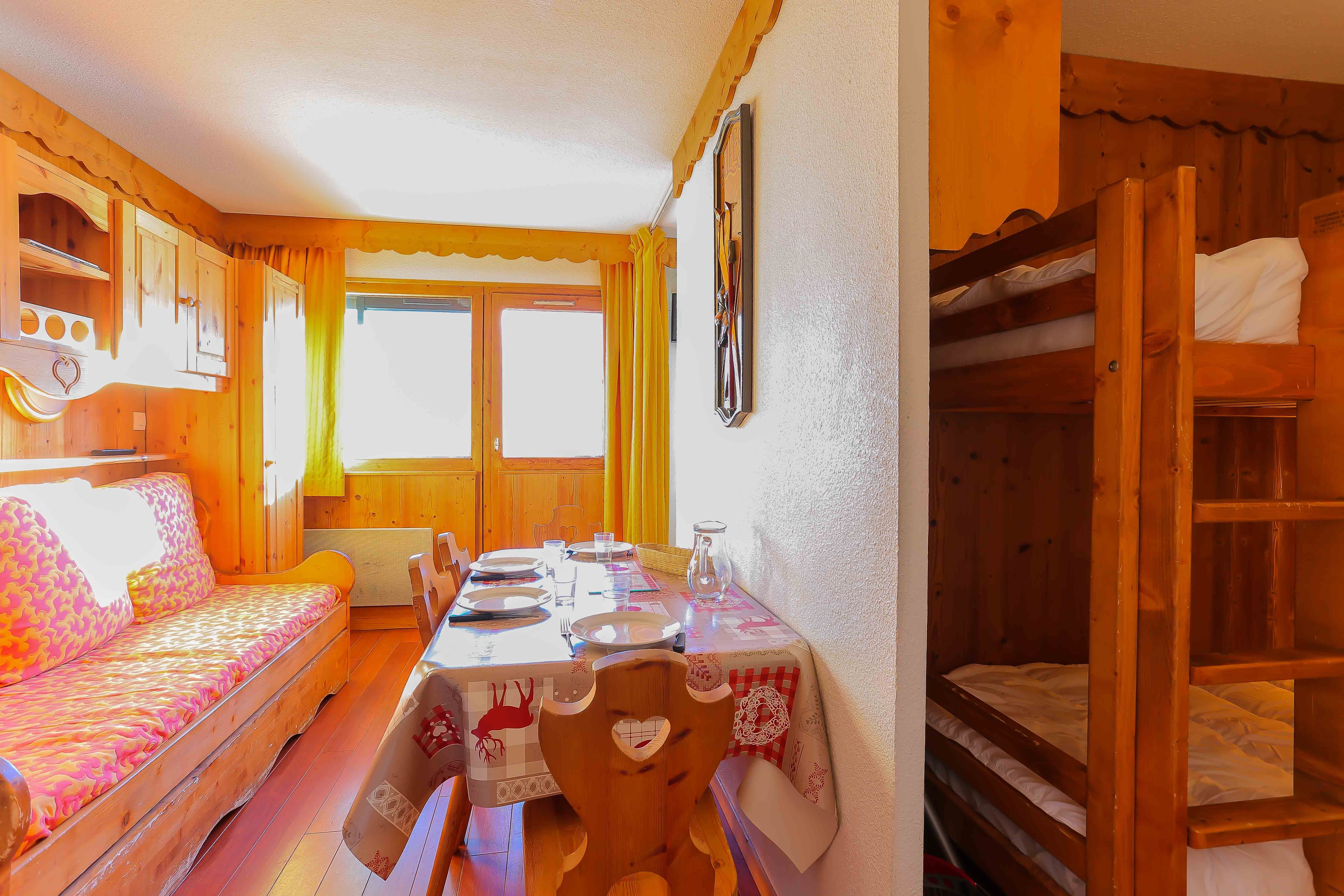Vanoise 455 > 2 Rooms + Cabin - 4 Persons - 2 Silver Snowflakes (Ma Clé IMMO)