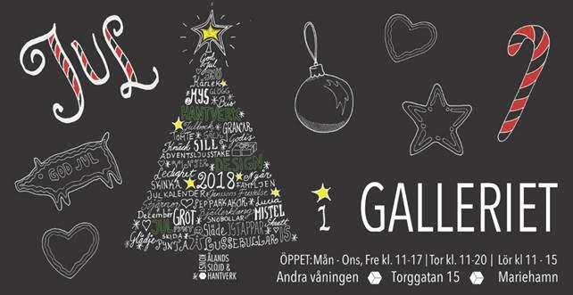Crafts exhibition: Christmas-themed exhibition at Galleriet