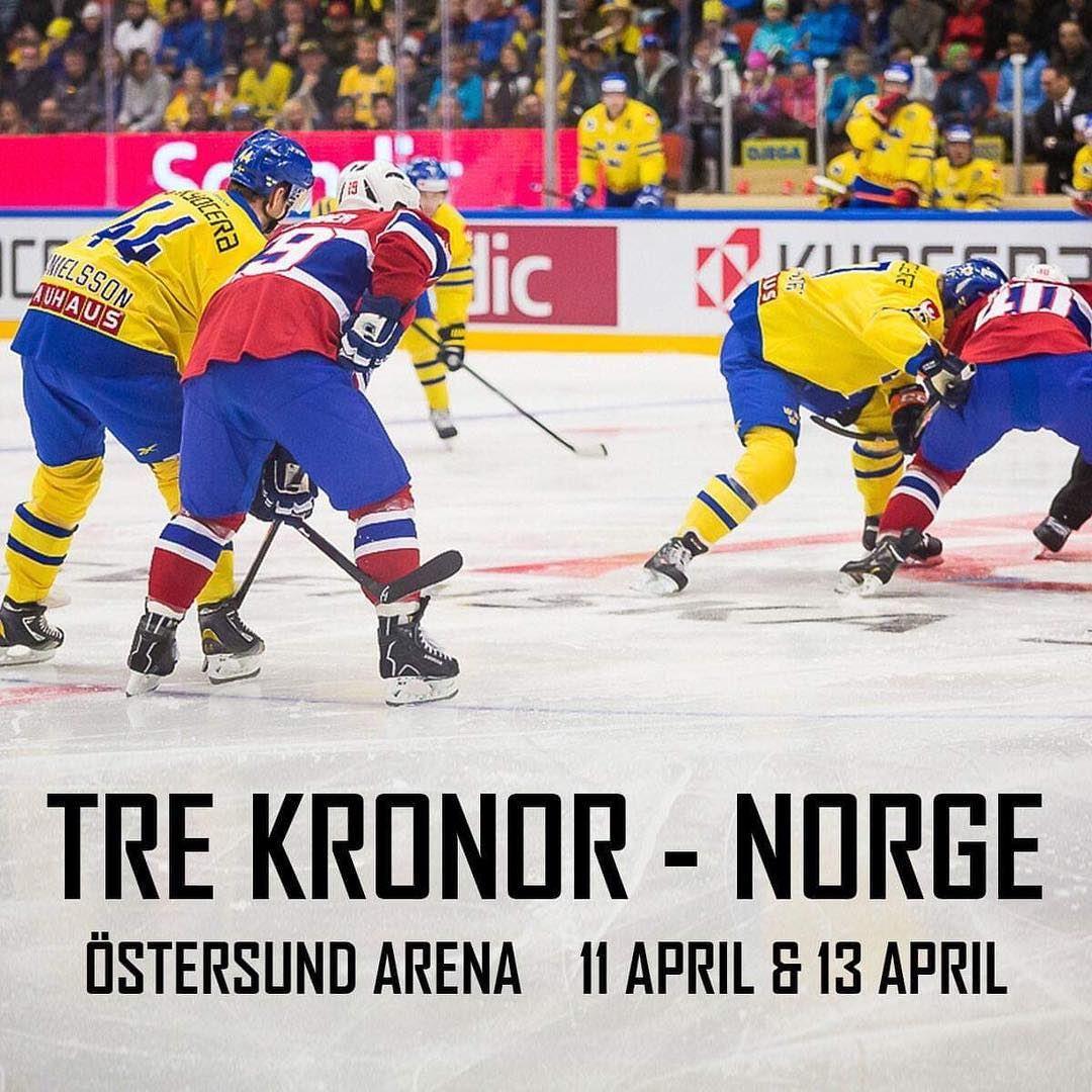 Ishockey Landskamp Tre Kronor - Norge