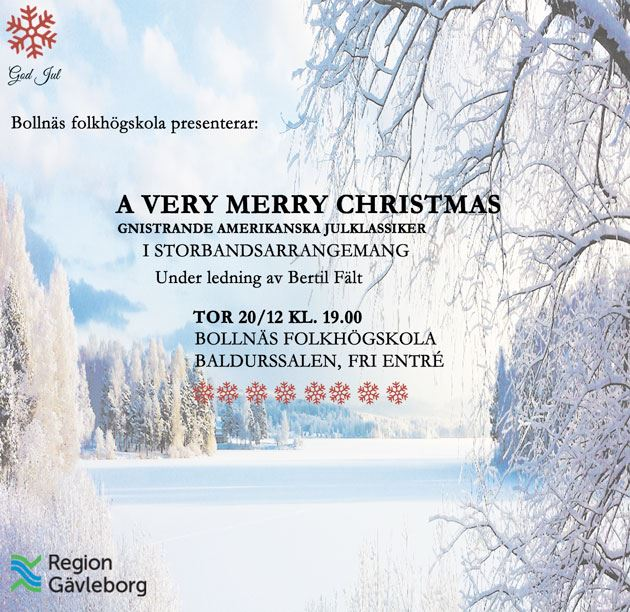 Bollnäs folkhögskola,  © Bollnäs folkhögskola, AD Julkonsert - Bollnäs folkhögskola