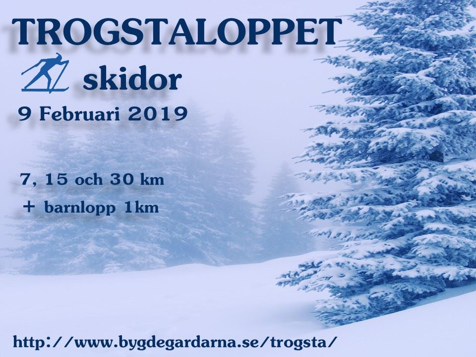 Trogstaloppet skidor 9 februari 2019