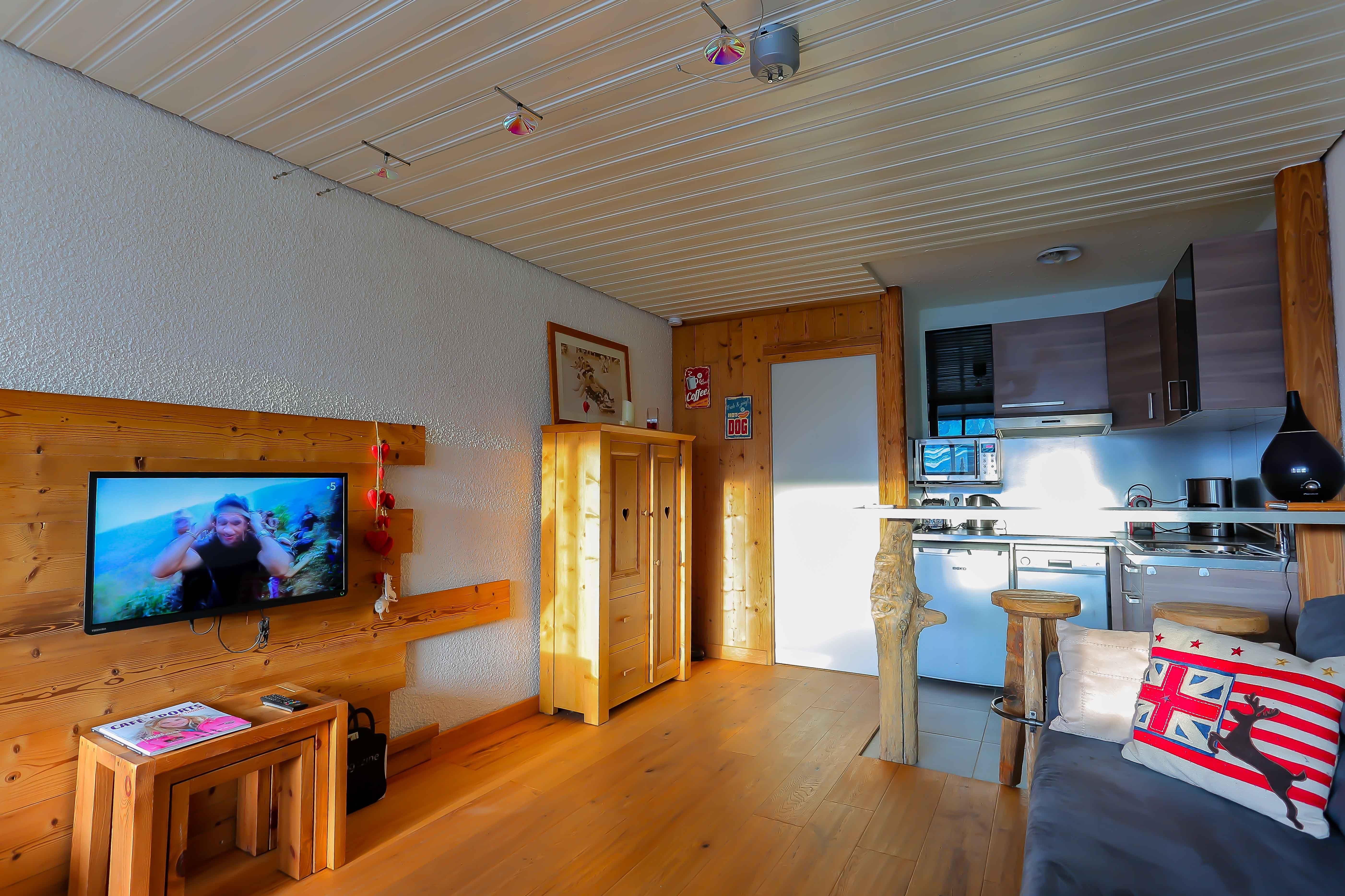 Sérac J7 > 1 Room + Veranda + Cabin - 6 Persons - 2 Silver Snowflakes (Ma Clé IMMO)