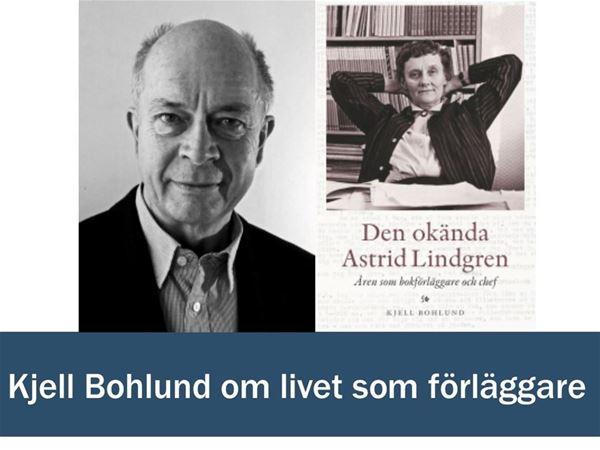 Kjell Bohlund föreläser om livet som förläggare
