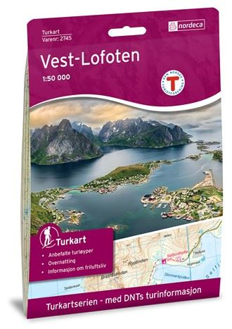 West-Lofoten hiking map 1:50 000 (2016)