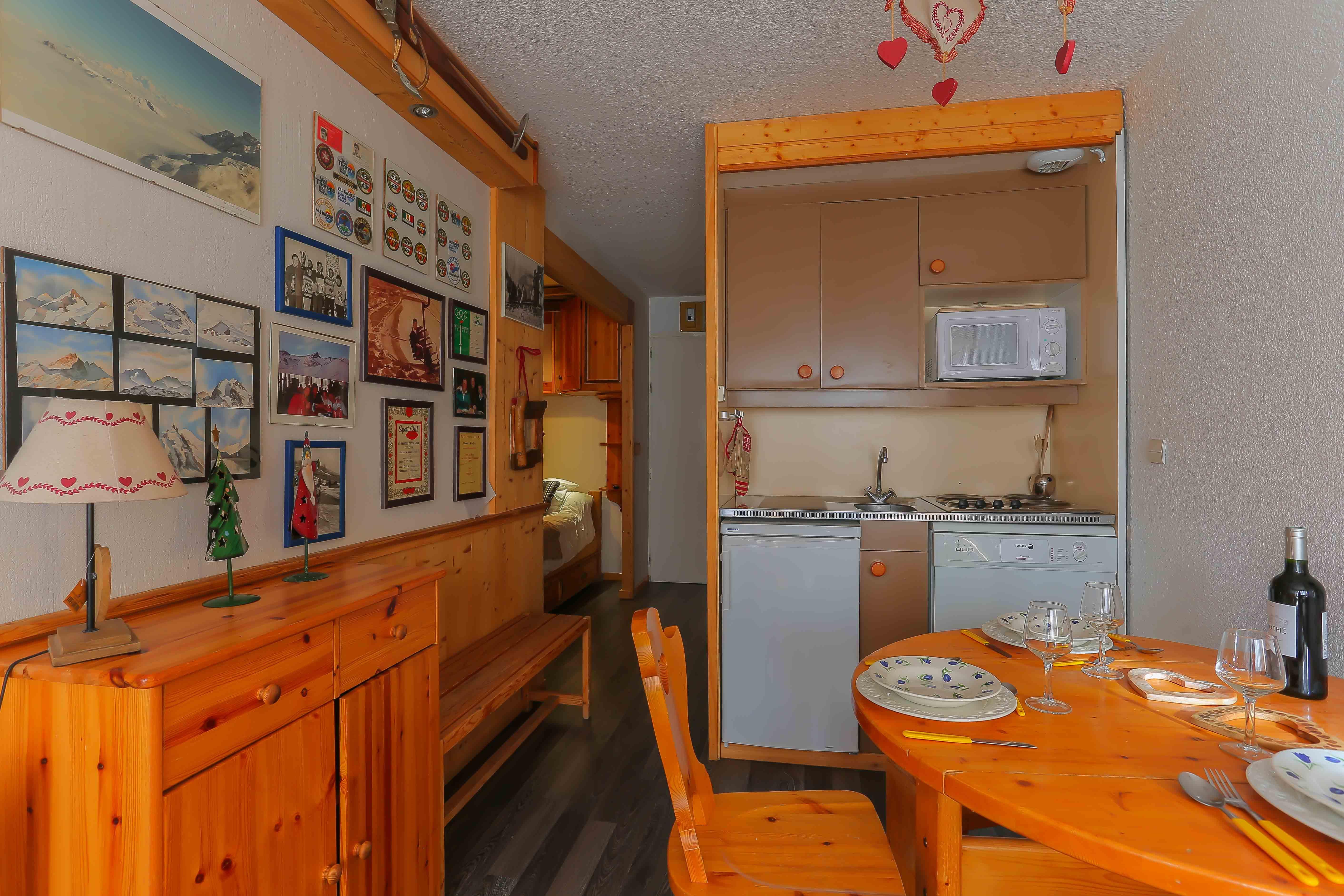 Lauzières 310 > Studio + Cabine - 3 Personnes - 2 Flocons Bronze (Ma Clé IMMO)