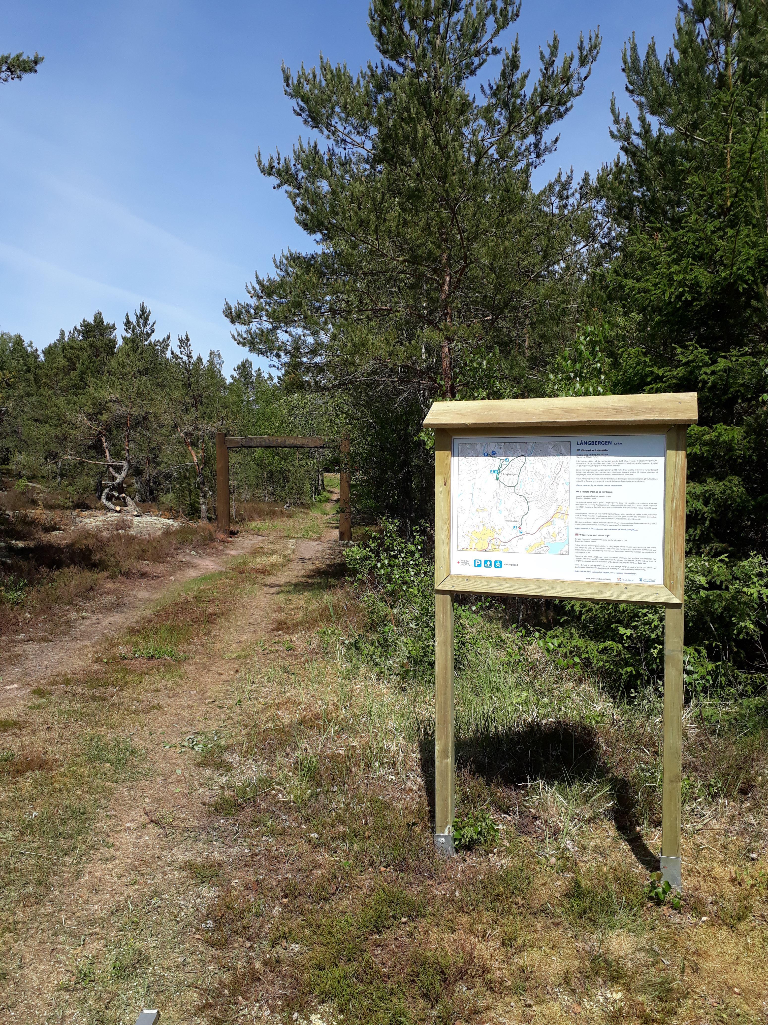 Långbergen − дикая природа и каменный век