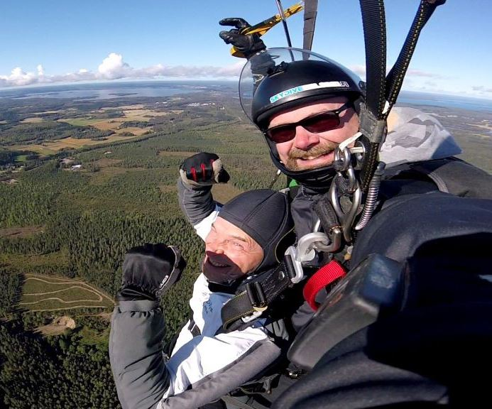 Tandem parachuting with photoshoot deluxe