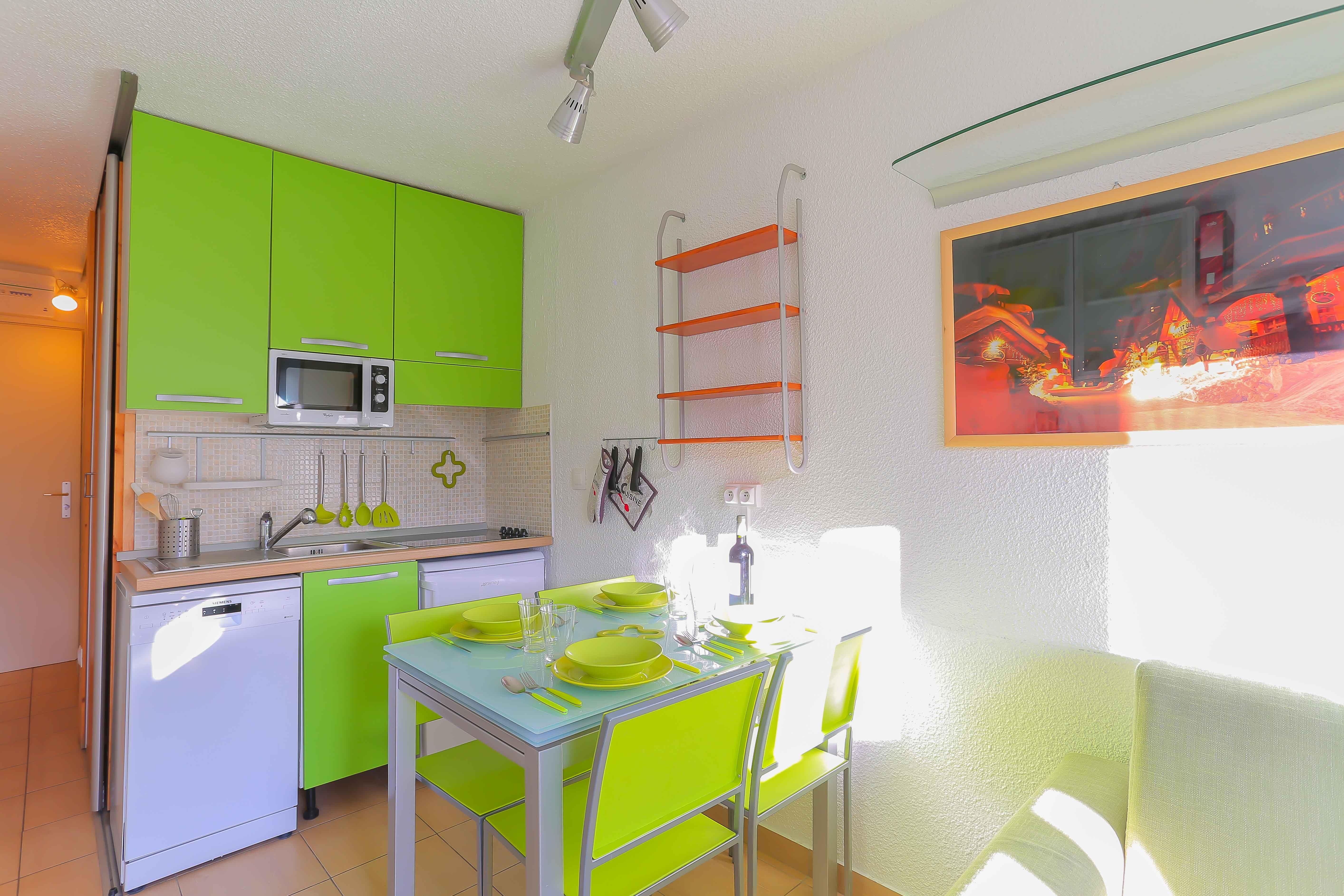 Lauzières 110 > Studio + Cabine - 3 Personnes - 3 Flocons Argent (Ma Clé IMMO)