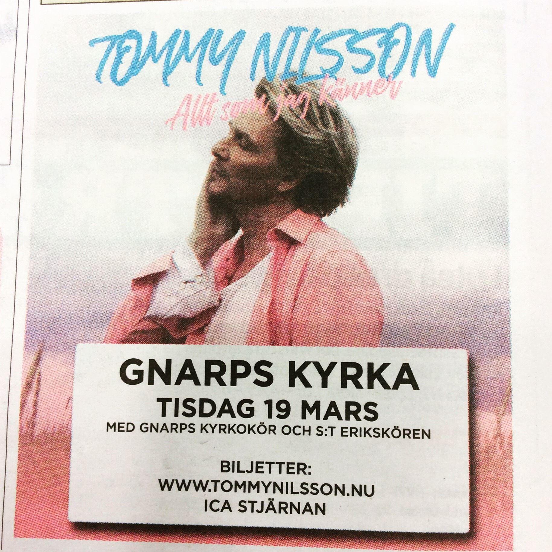 Konsert - Tommy Nilsson,