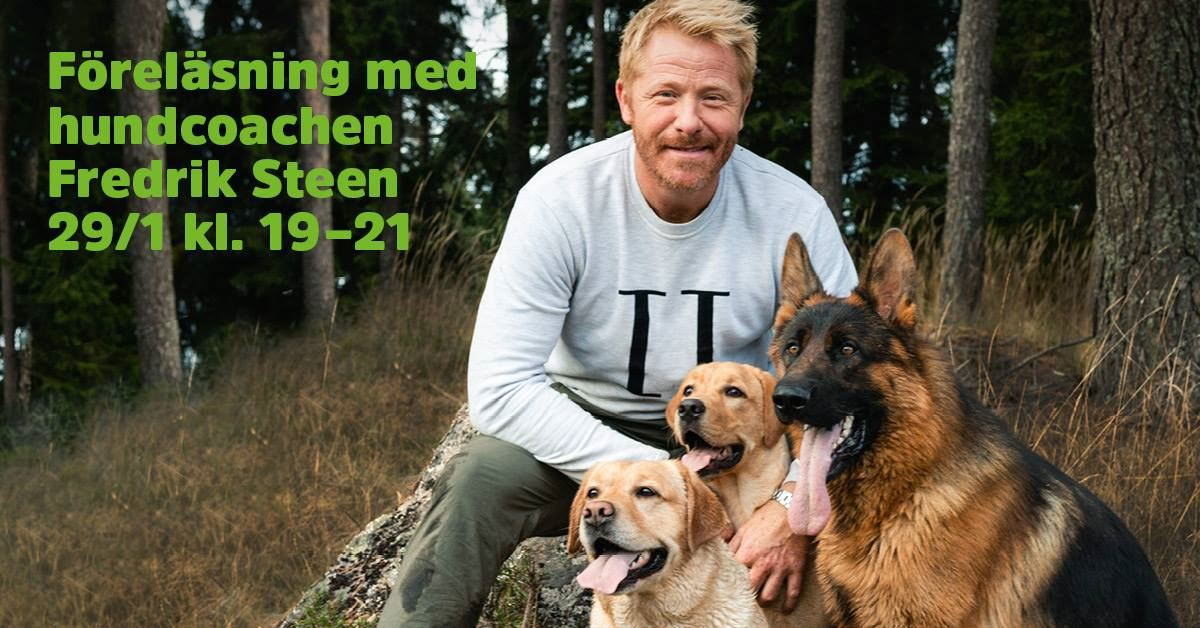 Lecture with the dog coach Fredrik Steen