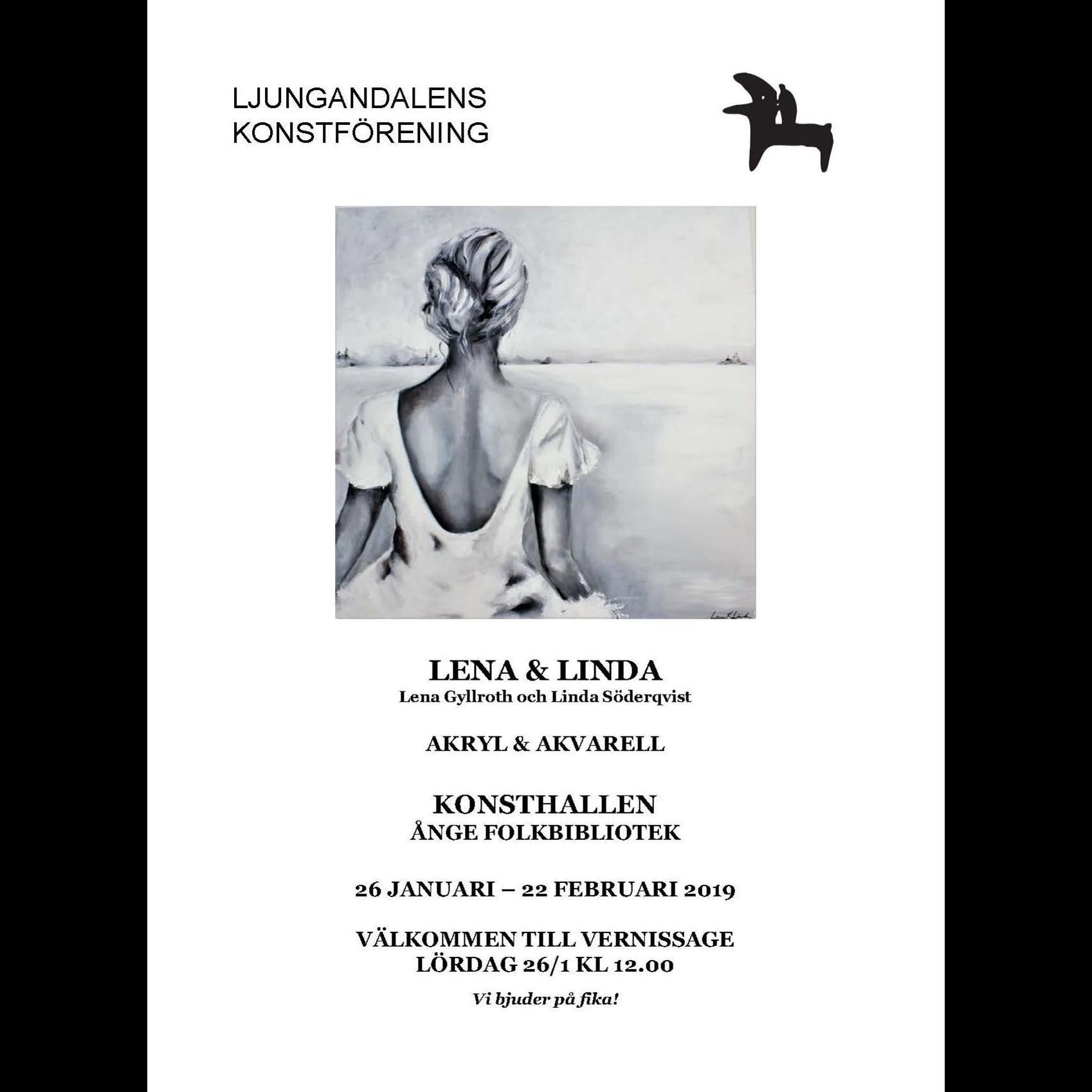 Lena&Linda Art,  © Ljungandalens konstförening, Lena&Linda Art
