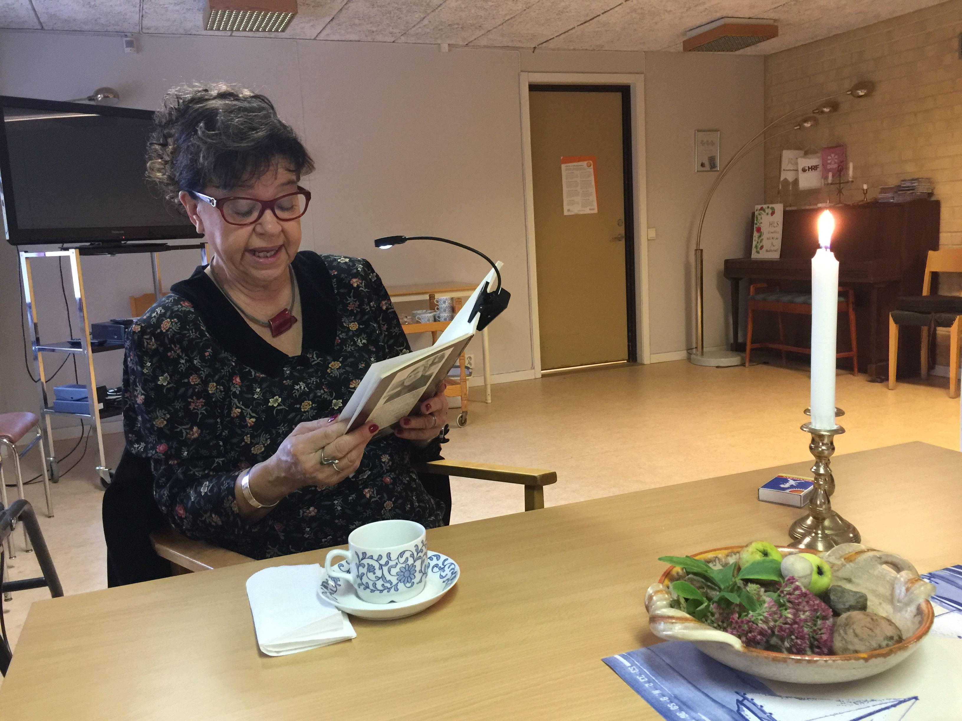 Pia Tillemar,  © ABF Hälsingekusten, Sagostund för vuxna