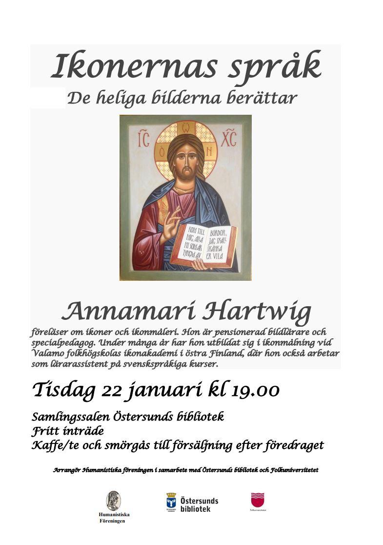 © Humanistiska föreningen i samarbete med Östersunds bibliotek och Folkuniversitetet , Ikonernas språk - De heliga bilderna berättar