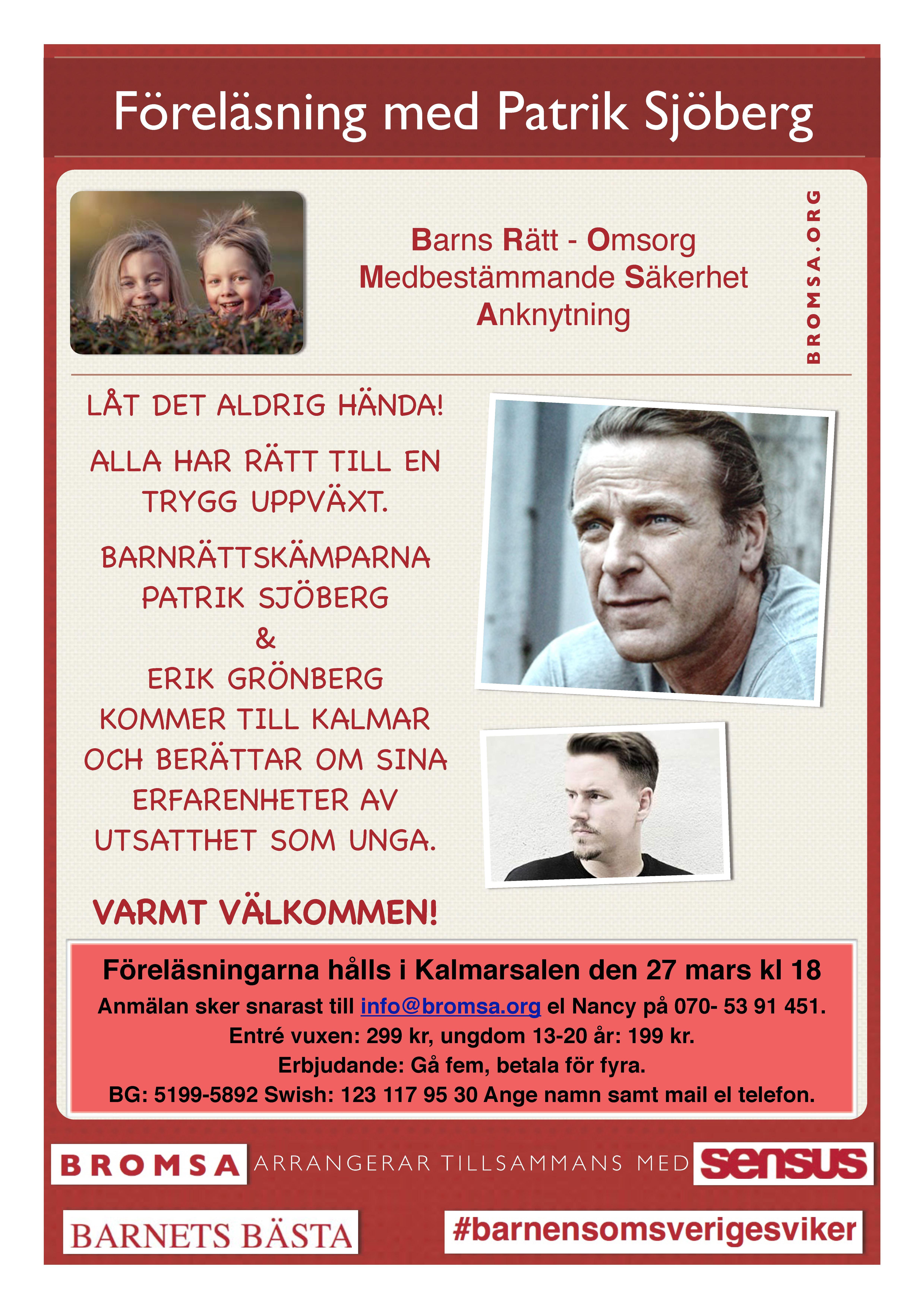 Föreläsning med Patrik Sjöberg