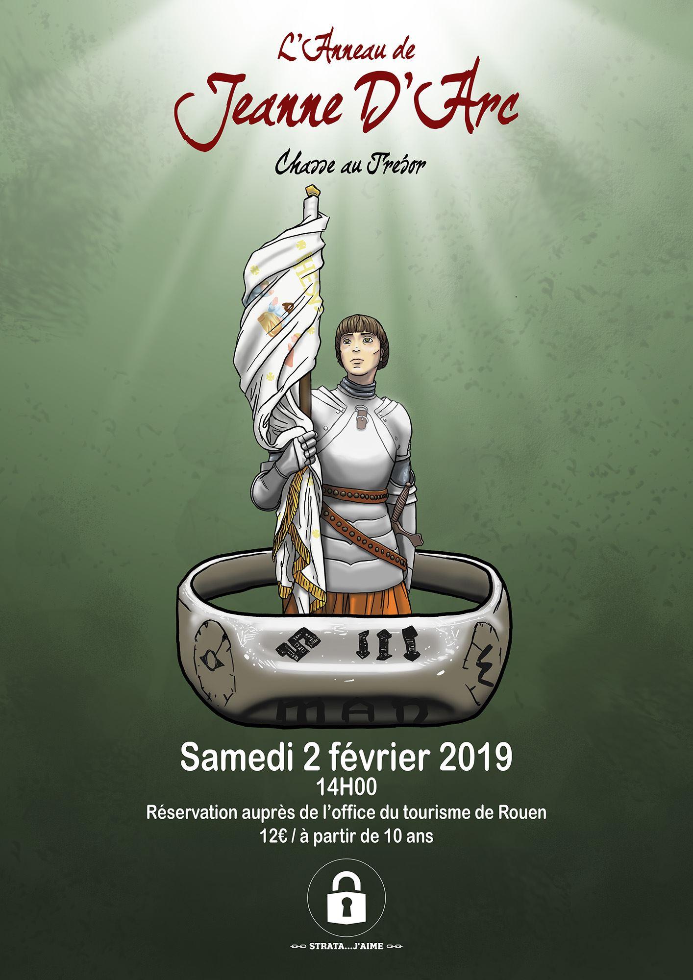 """""""L'anneau de Jeanne d'Arc"""" Chasse au trésor, samedi 30 mars"""