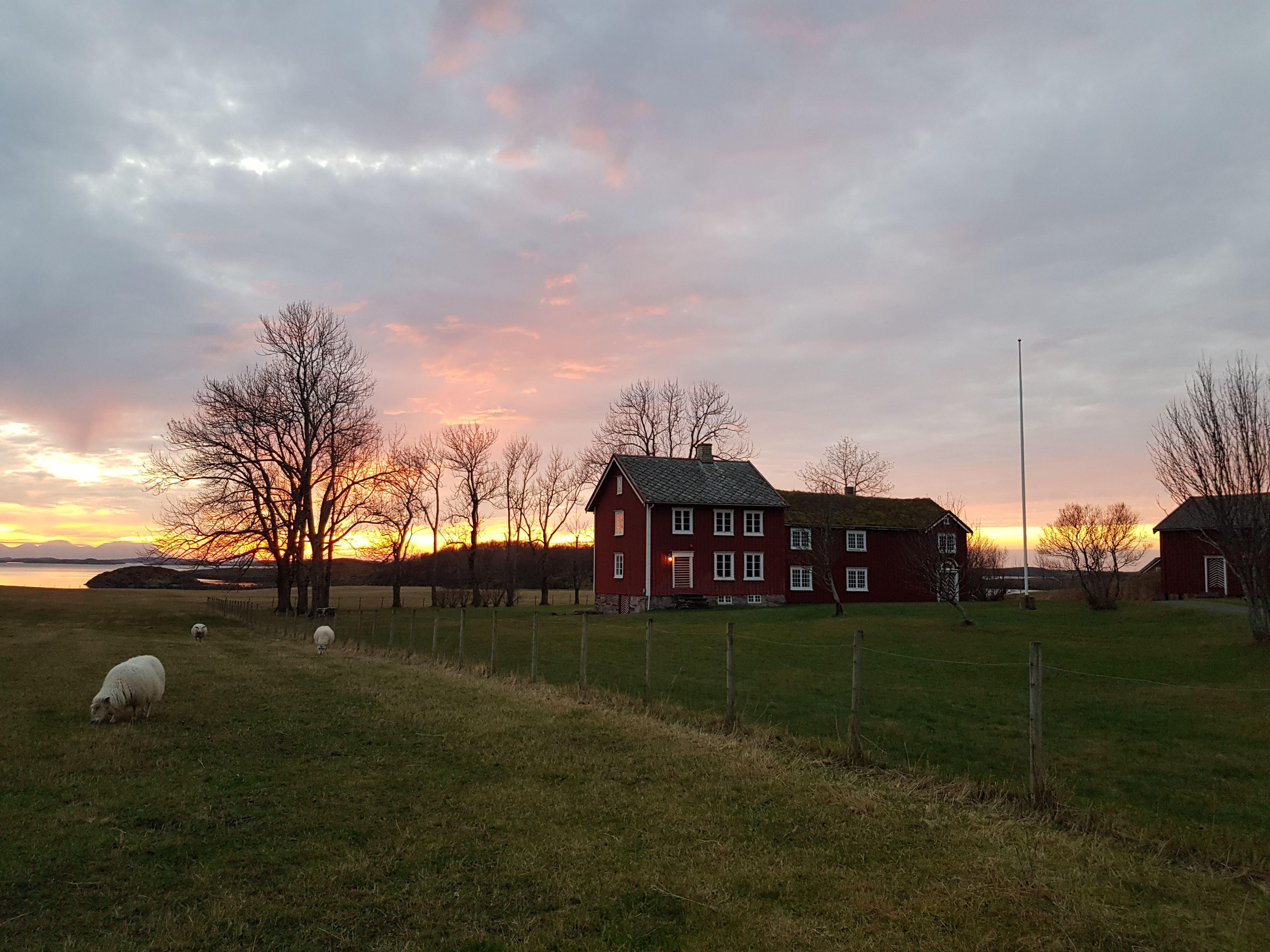 Petter Dass-museet , Alstahaugtunet i novemberlys