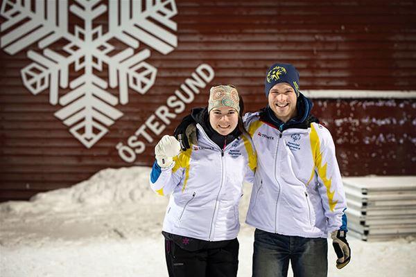 Foto: Ski Region,  © Copy: Ski Region, Två skidåkare