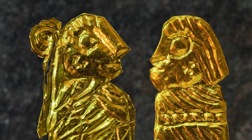 Blekinge museum tillverkar guldgubbar och guldgummor!