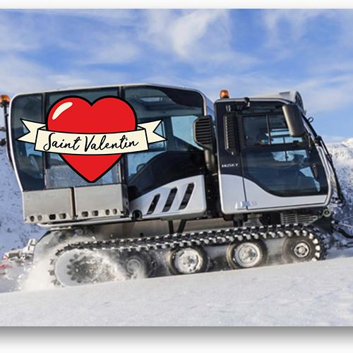 Piste basher ride - Special for Valentine's Day