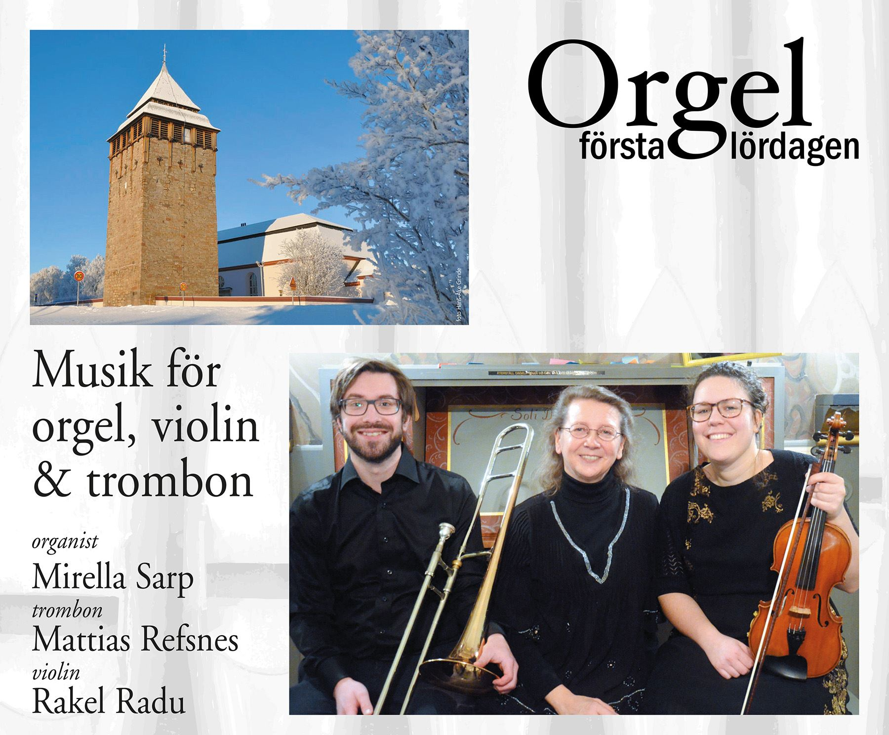 Kyrkomusikerna Jämtland & Härjedalen,  © Kyrkomusikerna Jämtland & Härjedalen, Affisch Brunflo