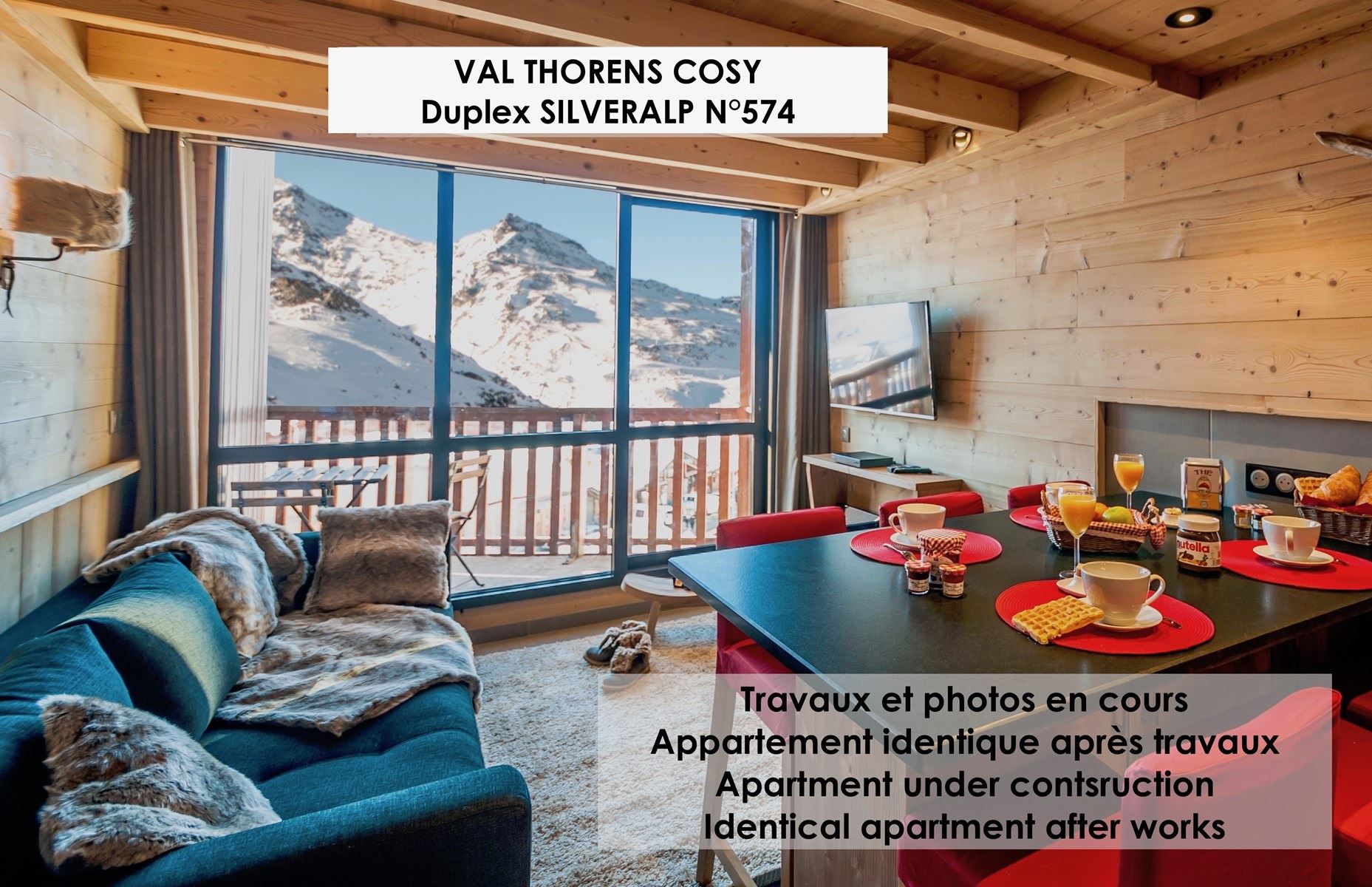 SILVERALP 574 / APPARTEMENT 4 PIECES 6 PERSONNES - 4 FLOCONS OR - ADA